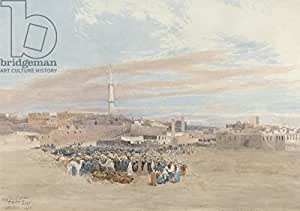 The Market Place, Tanga, Egypt, 1874 (W/C over Graphite) (309877), Póster, 60 x 40 cm