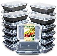 Enther Recipientes para preparação de refeições Compartimento único, 20 Pack 1 Compartment, Microwave/Dishwash