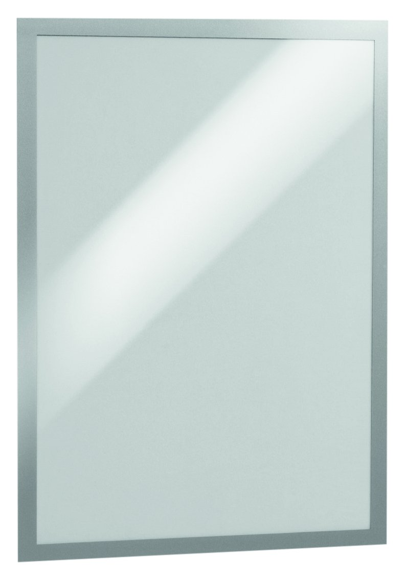DURABLE Self-Adhesive Magnetic DURAFRAME Document Sign Holder, Tabloid Size 11'' x 17'', Silver, 2 Pack (476923)