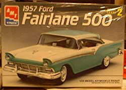 #8028 AMT/Ertl 1957 Ford Fairlane 500 1/25 Scale Plastic model kit,needs assembly from AMT