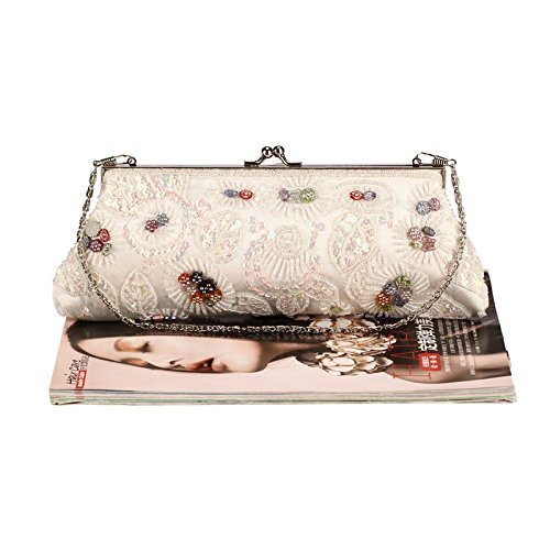 Bag Kissing Grab Dress Clutch Pink Evening Jewels Lock Women's Beaded Vintage Cheongsam Hand qwZPxTa
