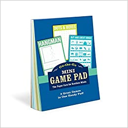 Knock Knock Mini On-The-Go Game Pad 1 4 x 6-inches Small Travel Activity Notepad