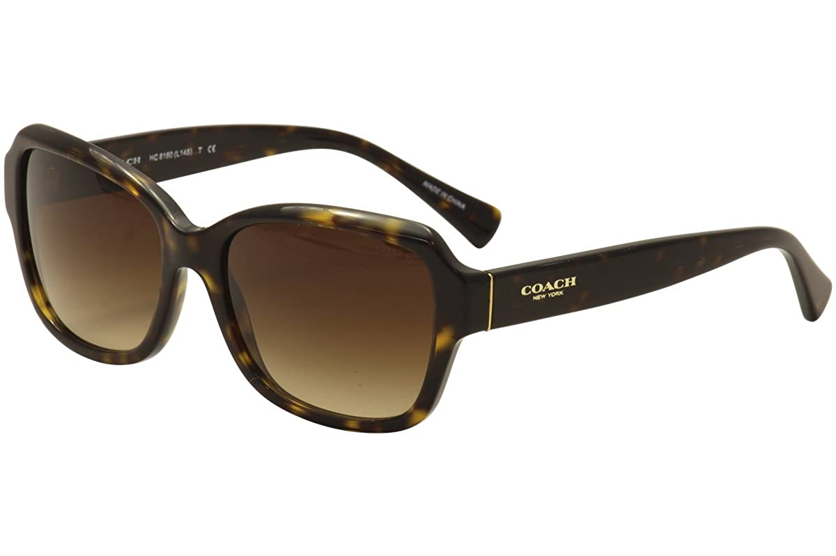 8cf29fef63 coach womens sunglasses (hc8160) tortoise brown acetate - non-polarized -  56mm  Amazon.in  Clothing   Accessories