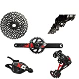 SRAM X01 Eagle BB30 170mm Groupset, Black/Red