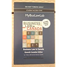 Access code and eText for 9780134312118 Business Law in Canada 11th