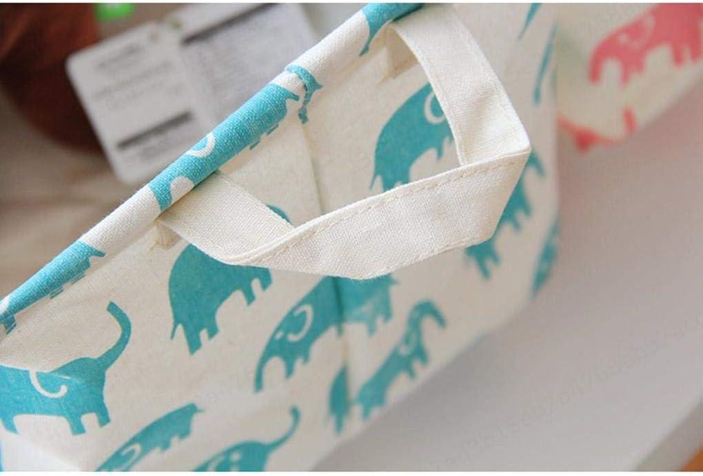 Dasket Modelo Verde del Elefante Bolsa de lavander/ía Cesto Organizador del Juguete del beb/é Cesta de Almacenamiento