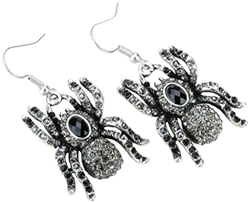 YACQ Jewelry Spider Crystal Dangle Earrings Halloween Party Gifts for Women Teen Girls