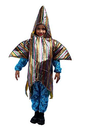 Shree Balaji Dress Big Boys' Star Fish Sea Creature Fancy Dress Cosplay Costume Medium Yelloe (Sea Creature Costumes)