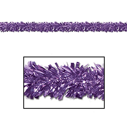 Metallic Garland Christmas Festooning Purple, Gleam N Fest Metallic Garland, Pack 12