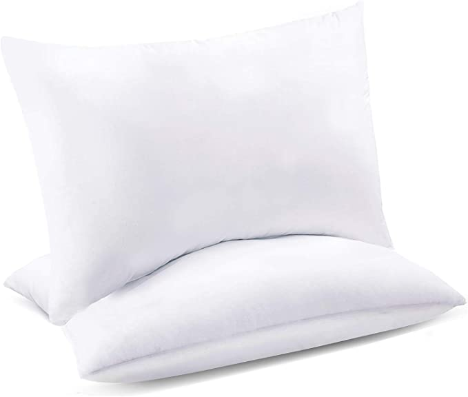 Celeep Oversize Queen Bed Pillows 2 Pack Premium Sleeping Pillows Soft Sand Washed Cover Hypoallergenic Microfiber Filling Home Kitchen Amazon Com