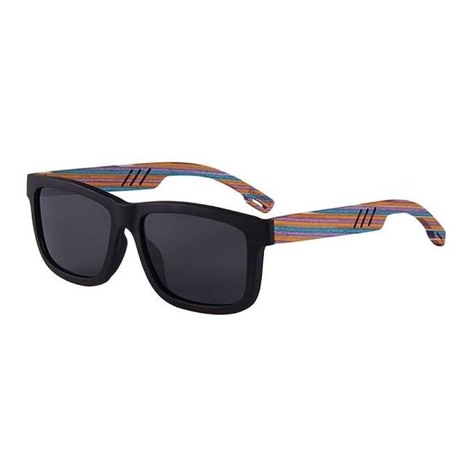 Shop 6 Gafas de sol Gafas polarizadas gafas de sol con patas de madera gafas de sol polarizadas de bambú y madera.: Amazon.es: Ropa y accesorios