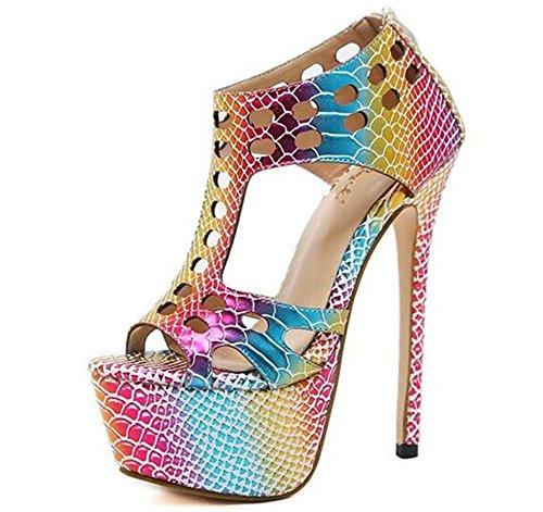 Taille Plate aiguille xie Des Multicolore EU38 Robe Talon Pompes forme femmes Fête sandales club Chaussures pour à 35 39 0qv8cqRw16