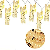 LED Photo Clip String Lights - 40 Photo Clips 5M Battery Powered LED Picture Lights for Decoration Hanging Photo, Notes, Artwork …