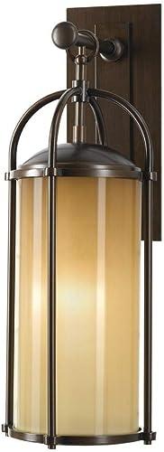 Feiss OL7601HTBZ Dakota Outdoor Patio Lighting Wall Lantern, Bronze, 1-Light 8 W x 21 H 150watts