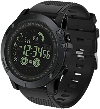 Reloj Deportivo Inteligente Digital 5Bar Sumergible Profundidad 2 años de duración de la batería Multifuncional Negro para Hombres: Amazon.es: Relojes