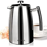Secura French Press Coffee Maker 18/10 Bonus Stainless Steel Screen