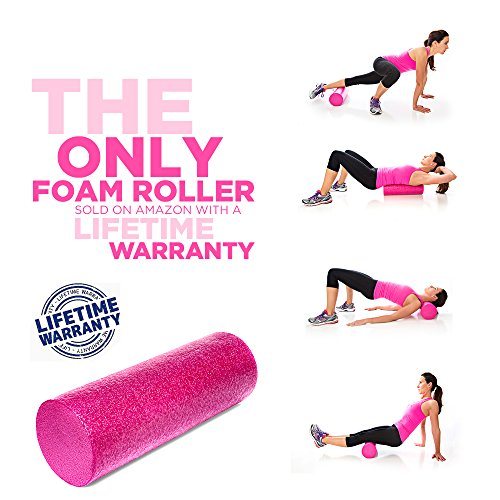 Product Stop, Inc Maintains Shape After Moderate to Heavy Use and Is Perfect for All Body Types. Pink Exercise Foam Roller with Trigger-Point Design - Massages, Soothes, Refreshes And Invigorates by Product Stop, Inc (Image #5)