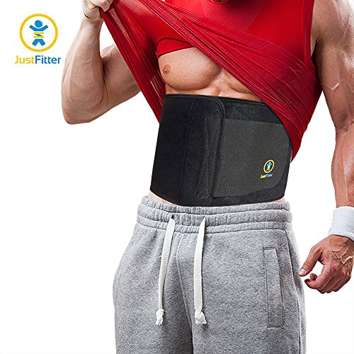 Just Fitter Adjustable Waist Trainer and Trimmer Belt for Men and Women, Small: (34-Inch-by-9-Inch), Black