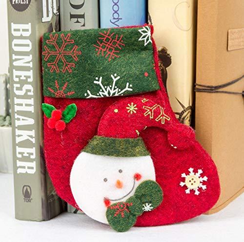 ASMGroup Christmas Stocking Kits Lovely Christmas Stockings Socks Santa Claus Candy Gift Bag Xmas Tree Decor Festival Party Supplies Style 2