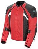 Joe Rocket Alter Ego 3.0 Men's Textile Street Bike Racing Motorcycle Jacket - Black/Red / Small
