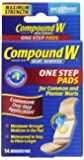 Compound W Wart Remover One Step Pads, 14 Count
