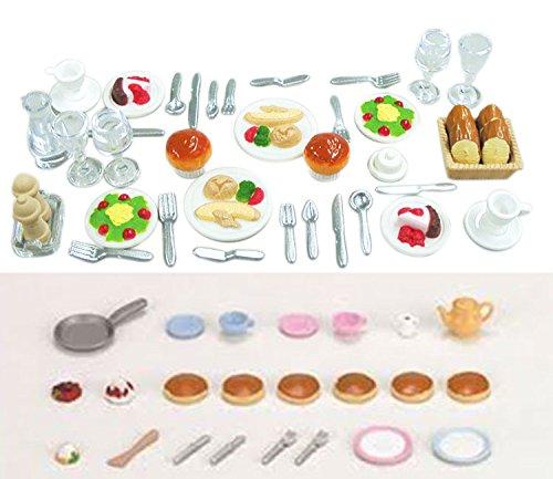 - 2 Food Sets - Dinner Set and Pancake Set (Japan Import)