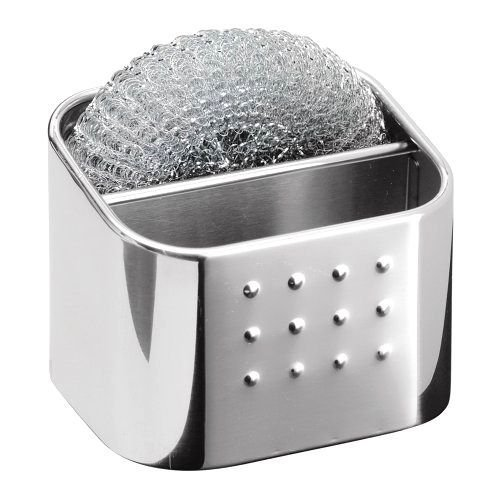 Kitchen Organizer Polished Stainless Steel Sponge/Scrubby Hub/Storage Holder (Hub Polished)