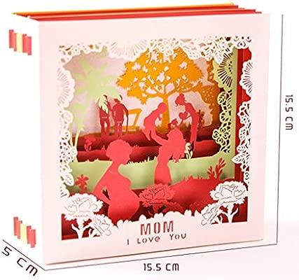 YiFeiCT 3D Pop Up I Love Mom tarjetas de felicitación de ...
