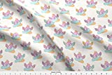 Emoji Fabric By the Yard Spoonflower Rainbow Fabric - Rainbows Unicorns and Rainbow Unicorns Unicorn Poop Unicorn Poop Emoji Rainbow Poop - by Red Raspberry Designs Printed on Linen Cotton Canvas Ultra Fabric by The Yard