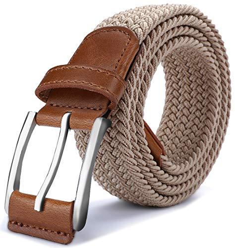 (Stretch Belt Men,Bulliant Mens Woven Stretch Braided Belt 1 3/8,Multicolors)