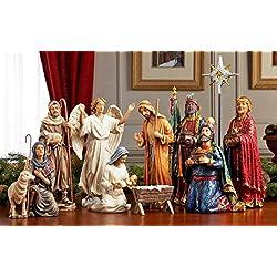 Christmas Nativity Set - Full 10 inch Real Life Nativity Set