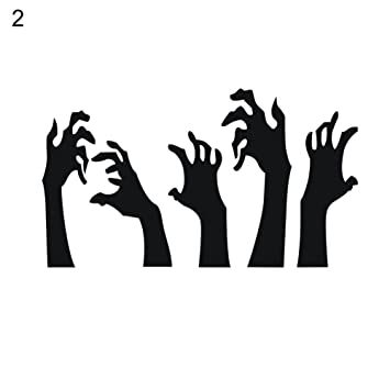Amazon com: xxiaoTHAWxe Halloween Witch Blood Hands Wall