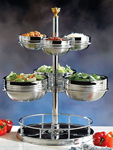 Bon Chef 61100 Stainless Steel Revolving Condiment Holder, 18'' Length x 18'' Width x 26-3/4'' Height by Bon Chef (Image #1)