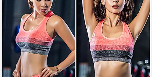 Ailin home- Anti-Shock Sports Lingerie Running Gathering Fitness damas sin sujetador de acero ( Color : Rojo , Tamaño : One size ) Rojo