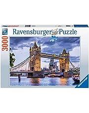 Ravensburger Puzzle 16017 – London, du vacker stad – 3 000 bitar pussel för vuxna och barn från 14 år, stadpussel med Tower Bridge-motiv