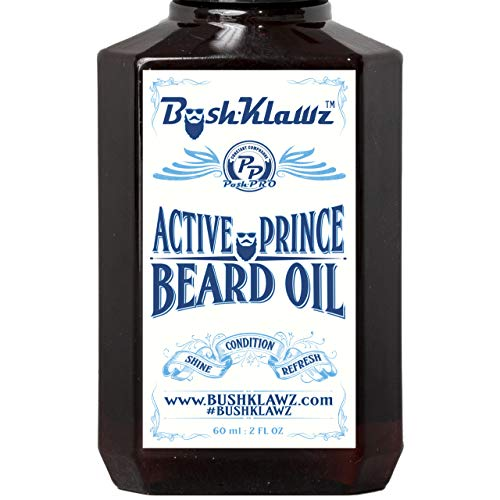 Active Prince Beard Oil Conditioner Premium Beard Moisturizer Refreshing Scent 2 oz – Best Leave in Conditioner Scented Beard Oil Gift Bearded Me