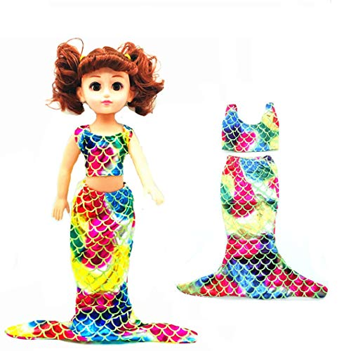 EatingBiting(R) Doll Mermaid 2Pcs Set Brilliant Vest Dress Skirt , Gorgeous Doll Clothing Clothes Outfit for 18