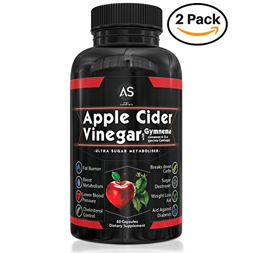 Angry Supplements Apple Cider Vinegar Pills for Weightloss [2 Pk Bundle] Natural Detox Remedy Includes Gymnema, Cinnamon, CLAs, & Garcinia for Complete Diet and Health - Best Starter Kit or Gift.