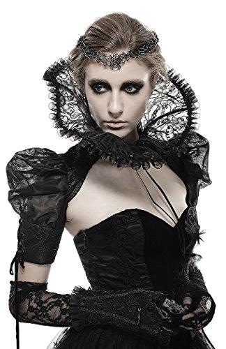 Bolro-transparent-noir--manches-bouffantes-et-grand-col-royal-gothique-Punk-Rave