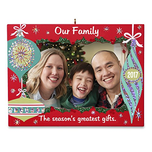 Hallmark Keepsake 2017 Our Family Greatest Gifts Picture Frame Dated Christmas Ornament ()