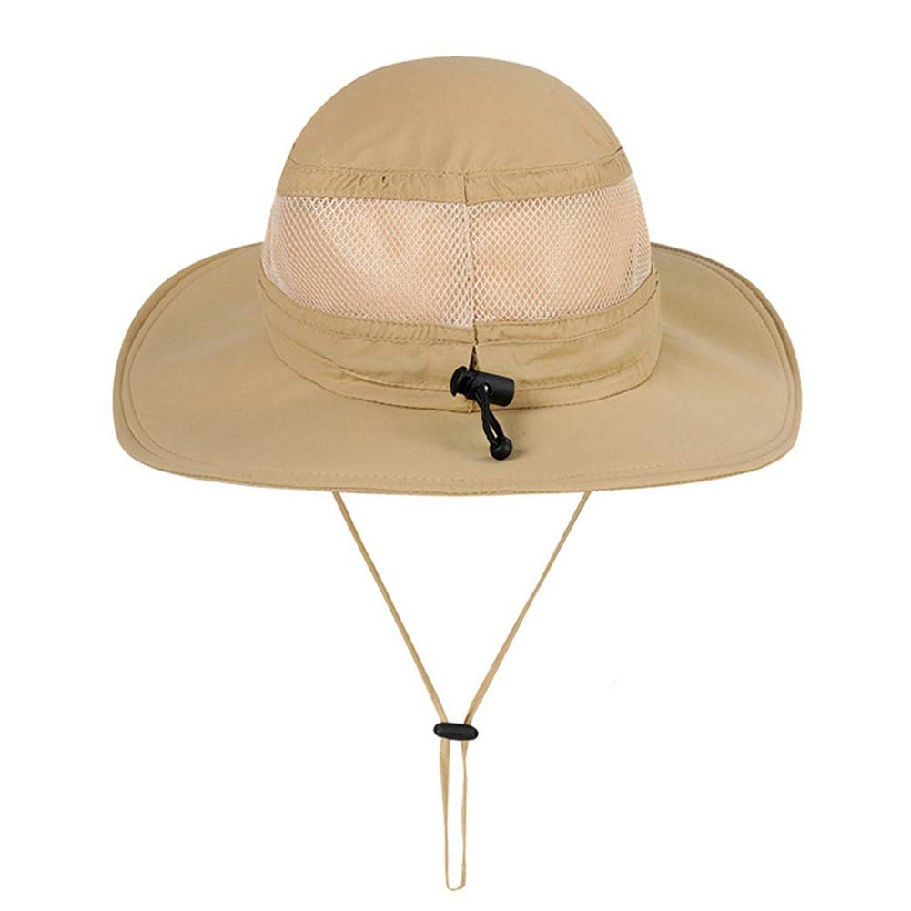 Unisex Sun Hat Fishing Boonie Cap Wide Brim Safari Hat Adjustable Drawstring Hats