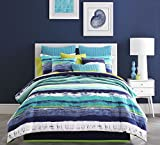 Five Queens Court  Cameron Twin Coverlet, Teal