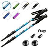 High Trek Premium Ultralight Trekking Poles w/Sweat Absorbing EVA Grips - Your Collapsible Hiking/Walking Sticks Come with Tungsten Tips and Flip Locks - Enjoy The Outdoors