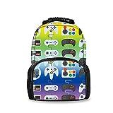 REFLEXS Unisex Waterproof Daypack Backpack Rucksack for Kids, Sport Video Game Weapon Funny