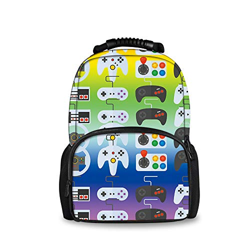 REFLEXS Unisex Waterproof Daypack Backpack Rucksack for Kids, Sport Video Game Weapon Funny Gamer (Video Game Weapons)