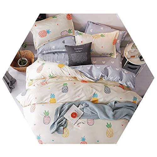 Home Textile Flamingo Cartoon Bedding Sets Duvet Cover Pillowcase Sheet Linen Twin 3/4Pcs 6 150x200cm Flat Bed ()