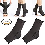 Plantar Fasciitis Socks Compression Foot Sleeves Ankle Heel Arch Support Socks, Compression Bandage Wraps Set with Velcro Straps Ideal for Pain Relief, Improved Blood Circulation, Anti-Fatigue(1 pair)