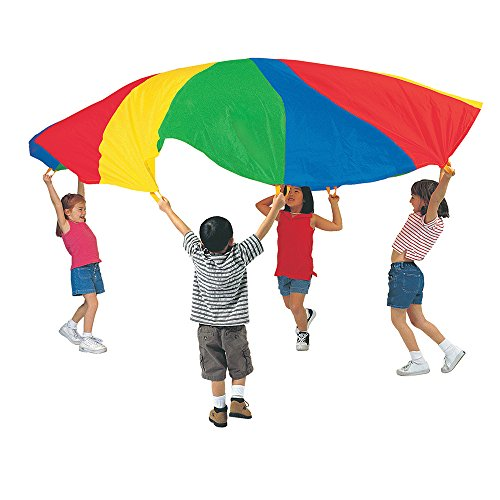 Pacific Play Tents 85-942 Kids 20-Foot Parachute with No Handles and Carry Bag for Group or Preschool Fun