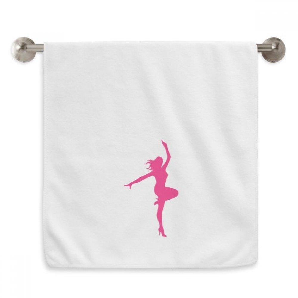 DIYthinker Pink Plump Dance Ballet Girl Circlet White Towels Soft Towel Washcloth 13x29 Inch