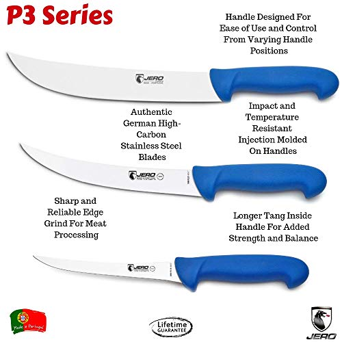 Jero P3 Meat Processing Knife Set - 3 Piece With Cimeter, Breaking, and Boning Knives - Perfect Game Processing Set by Jerp P3 (Image #1)